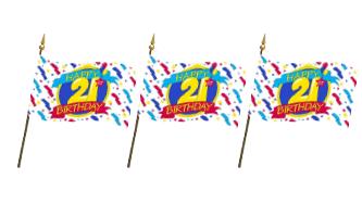 Fødselsdag Håndflag 10x15cm