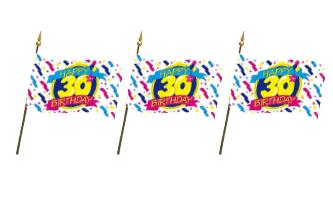 Fødselsdag Håndflag 15x22cm