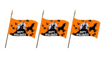 Halloween Håndflag 15x22cm