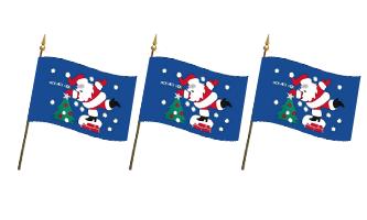 Jul og Nytår Håndflag 10x15cm