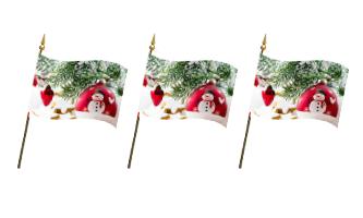 Jul og Nytår Håndflag 30x45cm