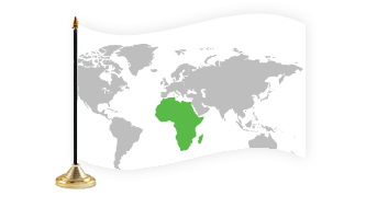 Afrika Bordflag
