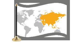 Asien Bordflag
