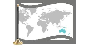 Oceanien Bordflag