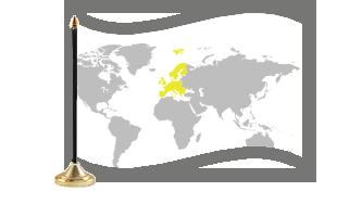 Europa Bordflag 30x45cm