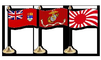Historie og Militær Bordflag 15x22cm