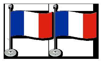 Frankrig Bordflag 15x22cm (Satin)