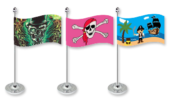 Pirat Bordflag 15x22cm (Satin)