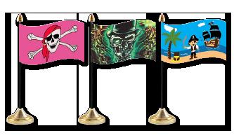 Pirat Bordflag 10x15cm