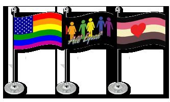 Pride Bordflag 15x22cm (Satin)