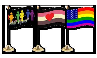 Pride Bordflag 10x15cm