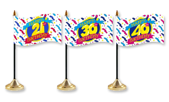 Fødselsdag Bordflag 10x15cm