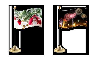 Jul og Nytår Bordflag