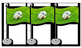 Sport Bordflag 15x22cm (Satin)