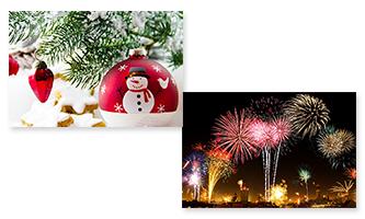 Jul og Nytår Flag 60x90cm
