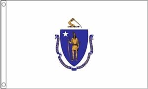 Image of   Massachusetts Flag (90x150cm)