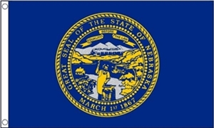 Image of   Nebraska Flag (90x150cm)