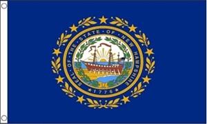 Billede af New Hampshire Flag (90x150cm)