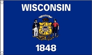 Image of   Wisconsin Flag (90x150cm)