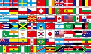 Image of   70 Nations Flag (90x150cm)
