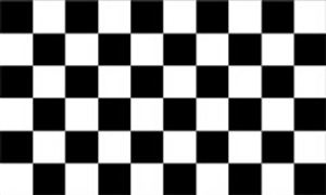 Image of   Black and White Check Flag (90x150cm)