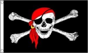 Image of   Pirate Bandana Flag (90x150cm)