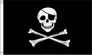 Image of   Skull and Crossbones Flag (90x150cm)