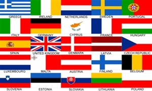 Image of   Euro 25 Nations Flag (90x150cm)