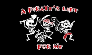 Image of   A Pirates Life - Pirat Flag (90x150cm)
