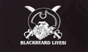 Image of   Blackbeard Lives - Pirat Flag (90x150cm)
