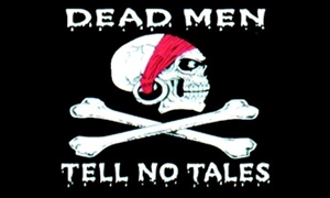 Billede af Dead Men Tell No Tells - Pirat Flag (90x150cm)