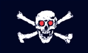 Image of   Jolly Roger Red Eyes - Pirat Flag (90x150cm)