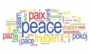 Image of   Peace Words Flag (90x150cm)