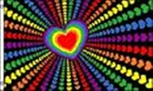 Image of   Rainbow Love Flag (90x150cm)