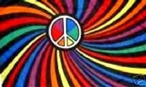 Billede af Rainbow Swirl Flag (90x150cm)
