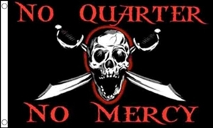 Image of   No Quarters No Mercy Flag (90x150cm)