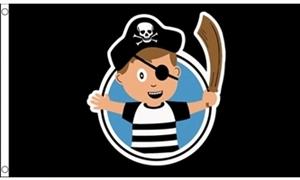 Image of   Pirate Child Boy Flag (90x150cm)