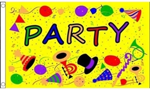 Image of   Party Time Yellow (90x150cm)