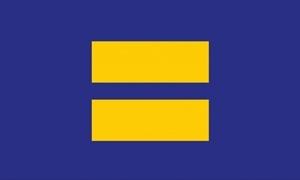 Billede af Equality (Blue/Yellow) Flag (90x150cm)