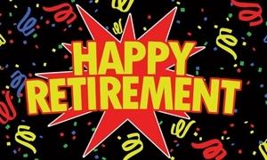 Image of   Happy Retirement Black Flag (90x150cm)