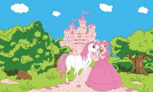 Image of   Princess Pony Castle Flag (90x150cm)