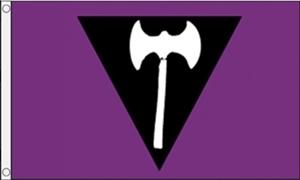 Image of   Lesbian Pride (Labrys) Flag (90x150cm)