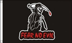 Image of   Fear No Evil Flag (90x150cm)