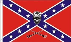 Image of   Confederate Soldier Skull Flag (90x150cm)