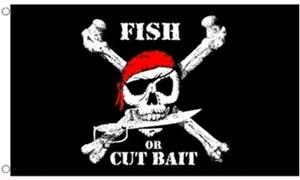 Image of   Pirate Fish Flag (90x150cm)