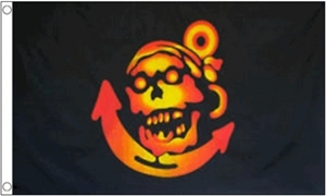 Image of   Pirate Anchor Flag (90x150cm)