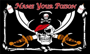 Image of   Name Your Poison - Pirat Flag (90x150cm)