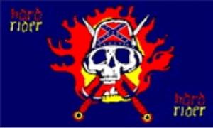 Billede af Hard Rider Flag (90x150cm)