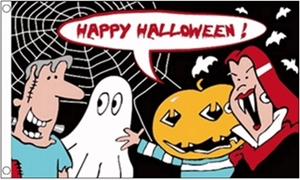 Image of   Halloween Cartoon Flag (90x150cm)