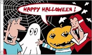 Image of   Halloween Cartoon Flag (90x150cm)